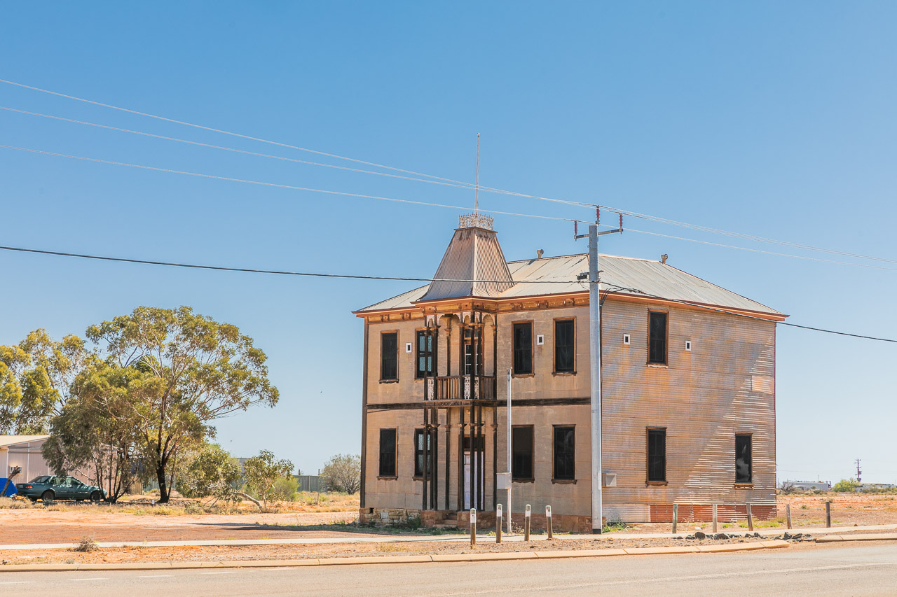 The old Masonic Lodge building in Cue