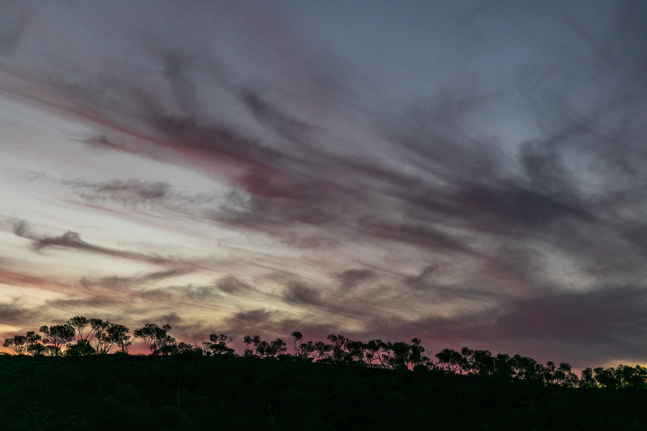 Interesting skies in the Goldfields at sunset