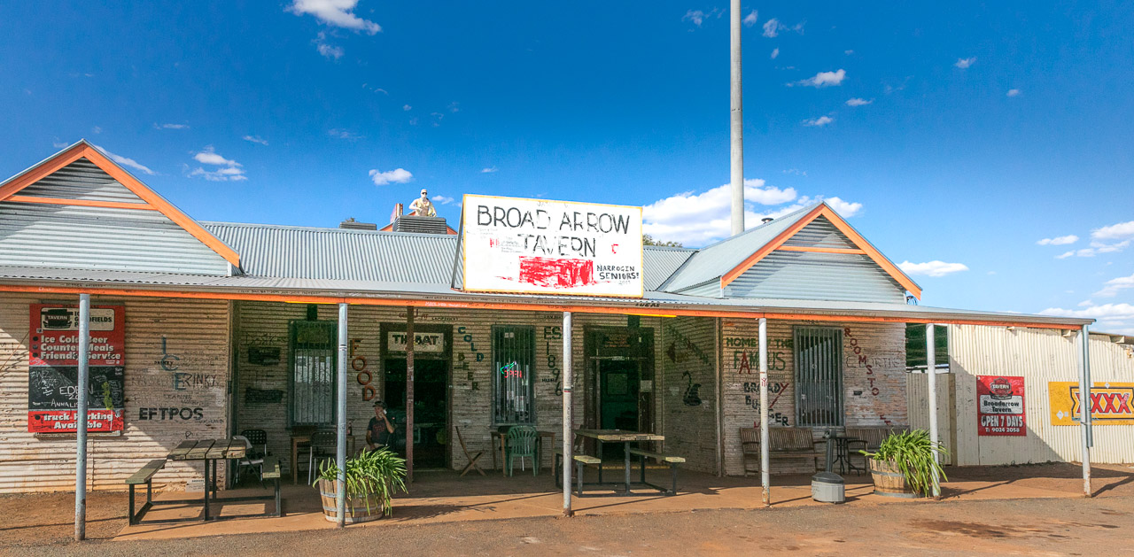 The infamous Broad Arrow Tavern in the Goldfields, north of Kalgoorlie