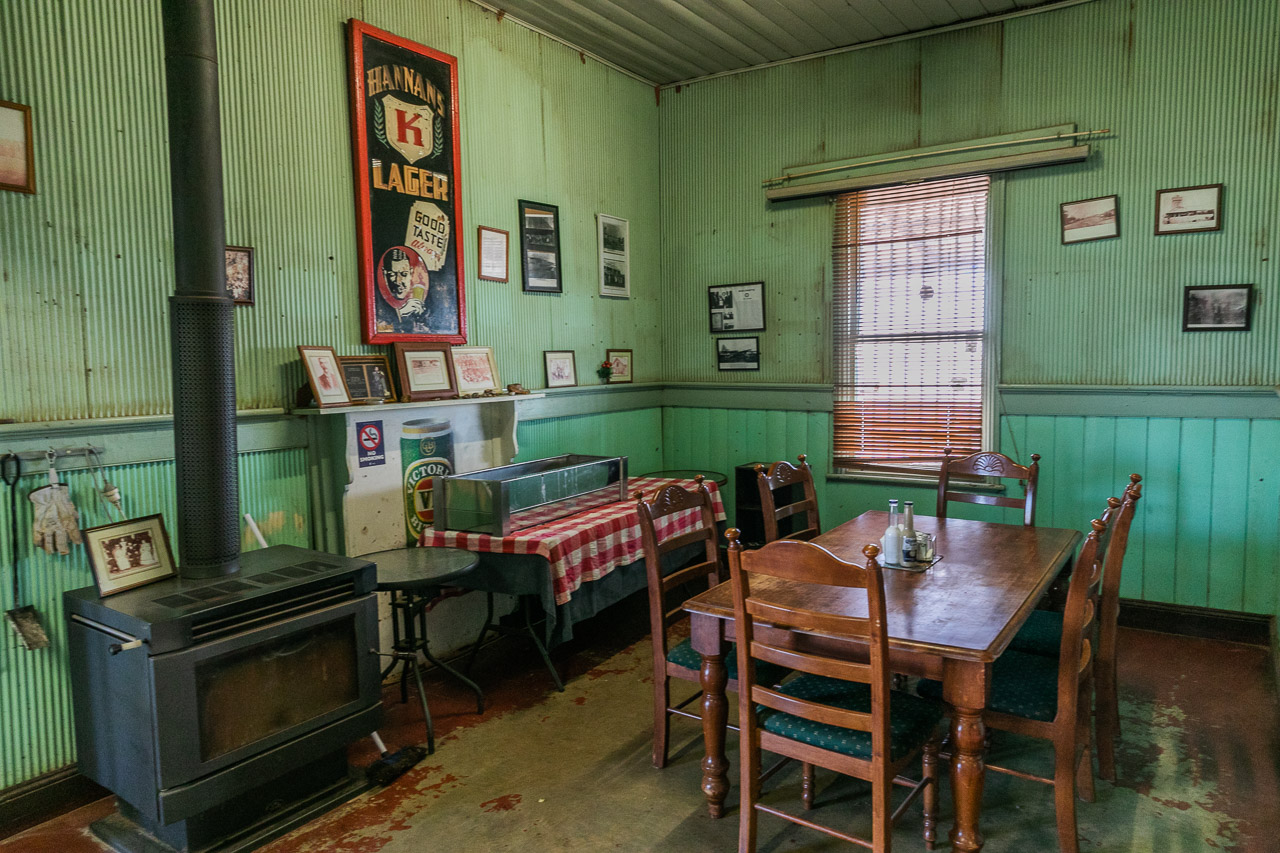 The dining room at the Broad Arrow Tavern