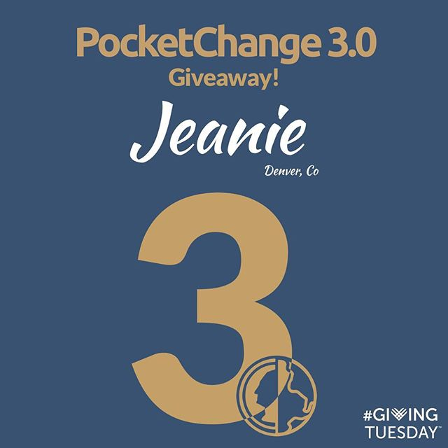💥GIVEAWAY💥. It's GivingTuesday today, so we partnered up with our friends over at @pocketchangesocial to give you guys some FREE SWAG, as well as to help enable you guys to give to the charities you want to EVERY SINGLE DAY.  Winner will be announced by the end of the day tomorrow and will win any T-Shirt or hat on Jeanie's website of $30 value or less.  To enter: - Follow both @pocketchangesocial and @jeanie_official - Comment and tag 3 friends - Tag us in your story for an extra chance  Pocketchange 3.0 just launched on Thanksgiving Day, and if you aren't familiar, is a micro donation button that enables you to give $.25 to $2 on any post or article that inspires you to do so online. Check them out for more information, and go right ahead and download 3.0 if you are ready to help change the world! #giveaway #givingtuesday #givingtuesday2018 #pocketchange #jeanie #reusetoinspire