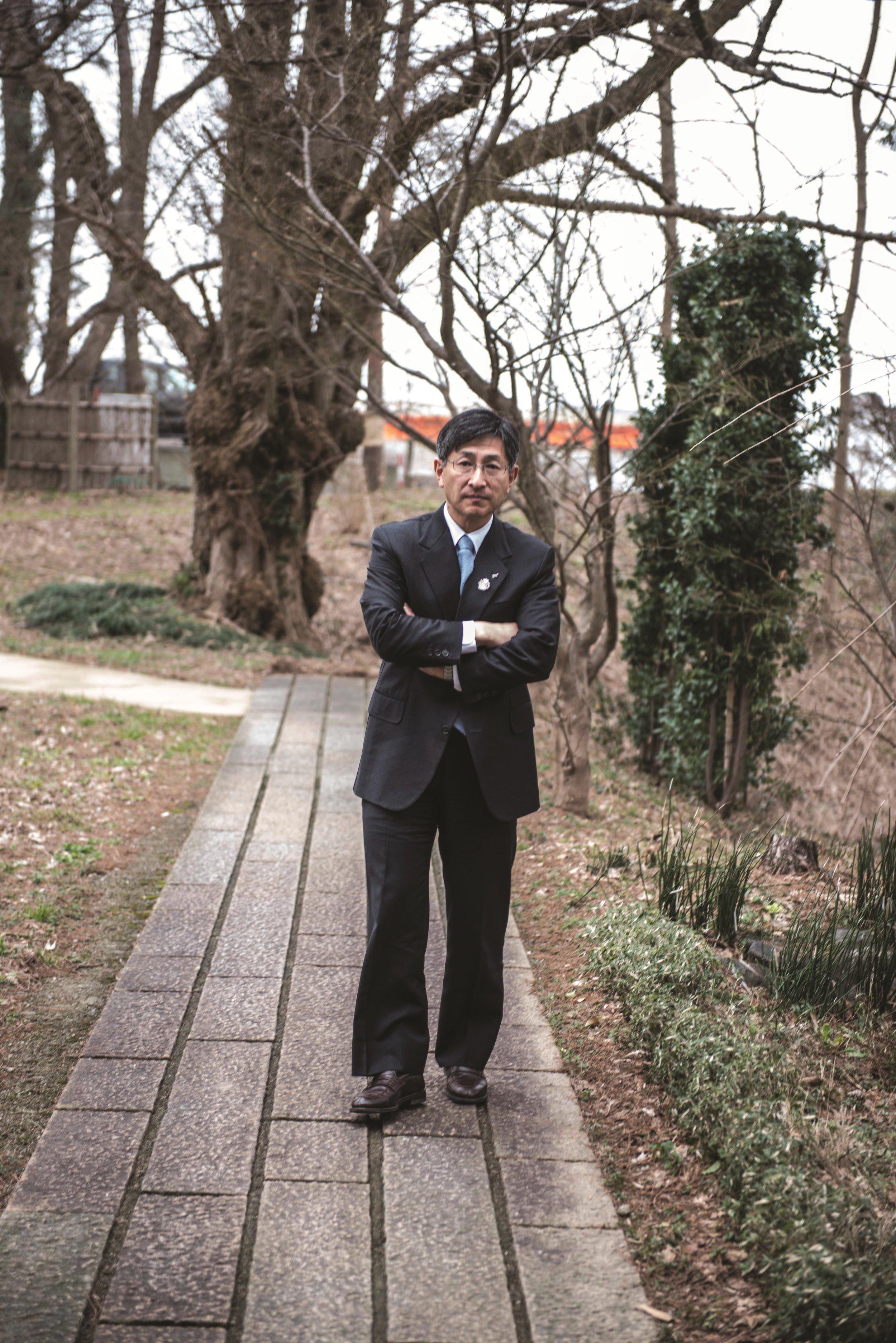 Daisuke Takasawa, current owner of Kikusui. Image by Jason M. Lang, courtesy of Gatehouse Publishing.