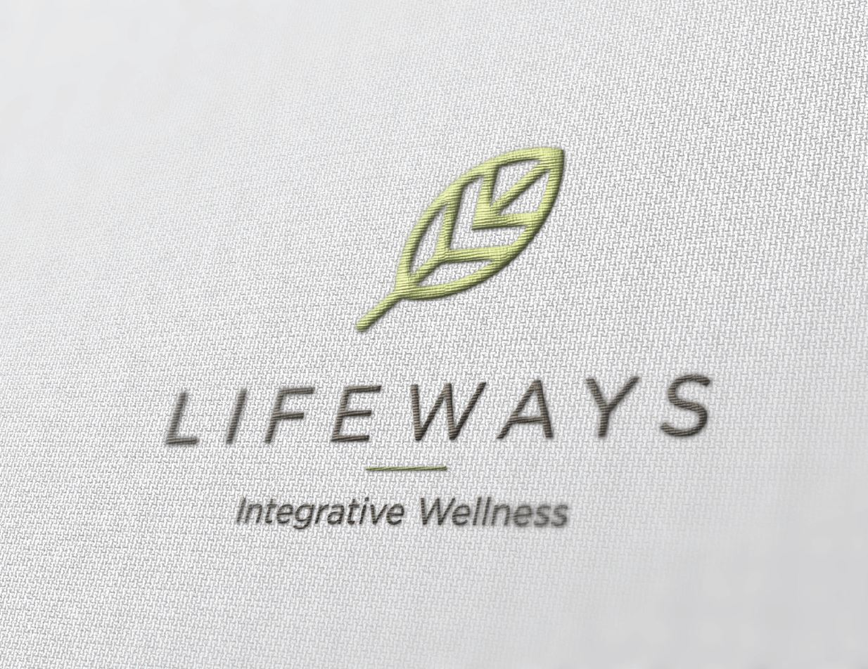 Logo embroidery mock-up for natural health company