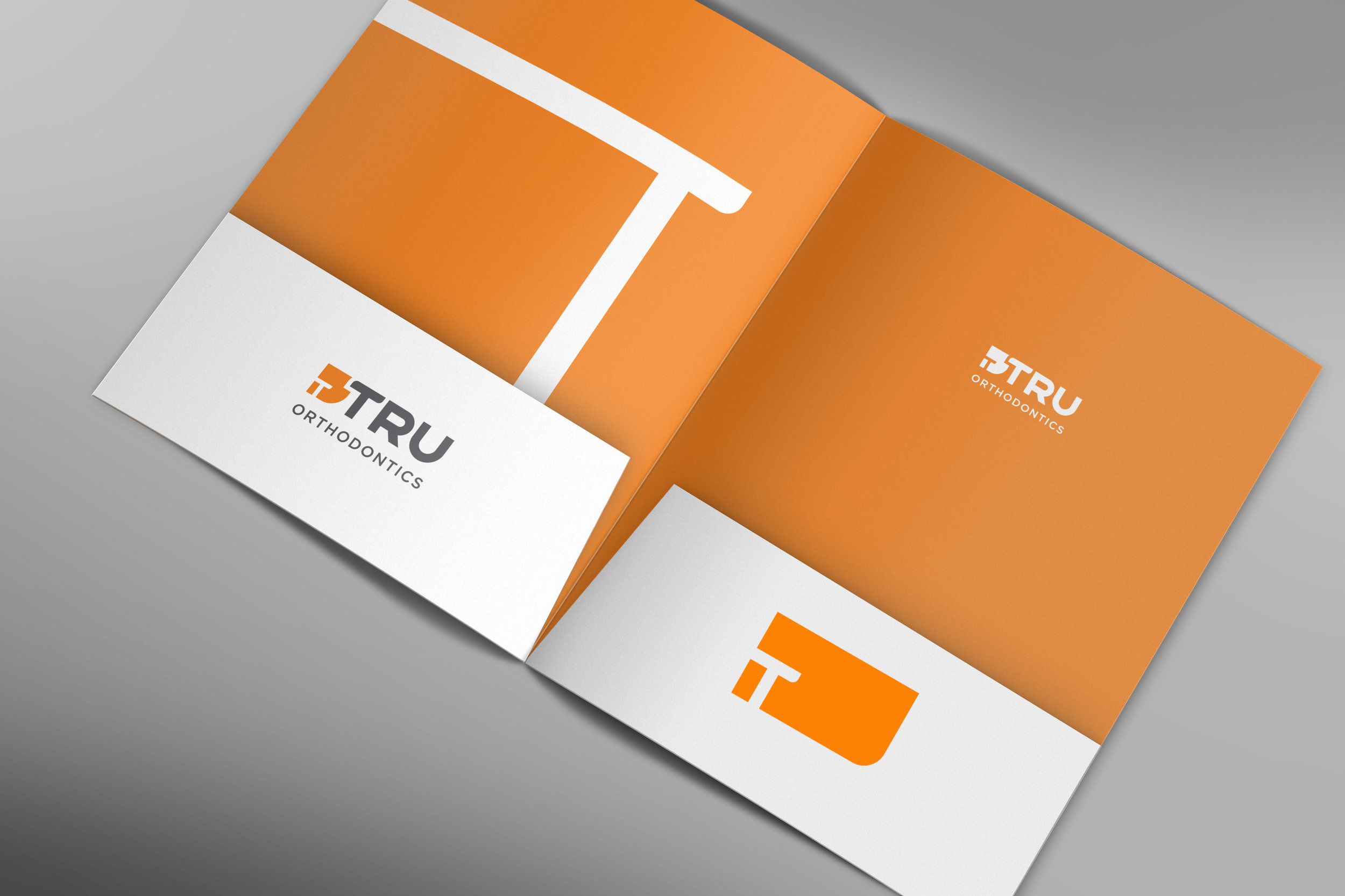 Tru Orthodontics presentation folder design