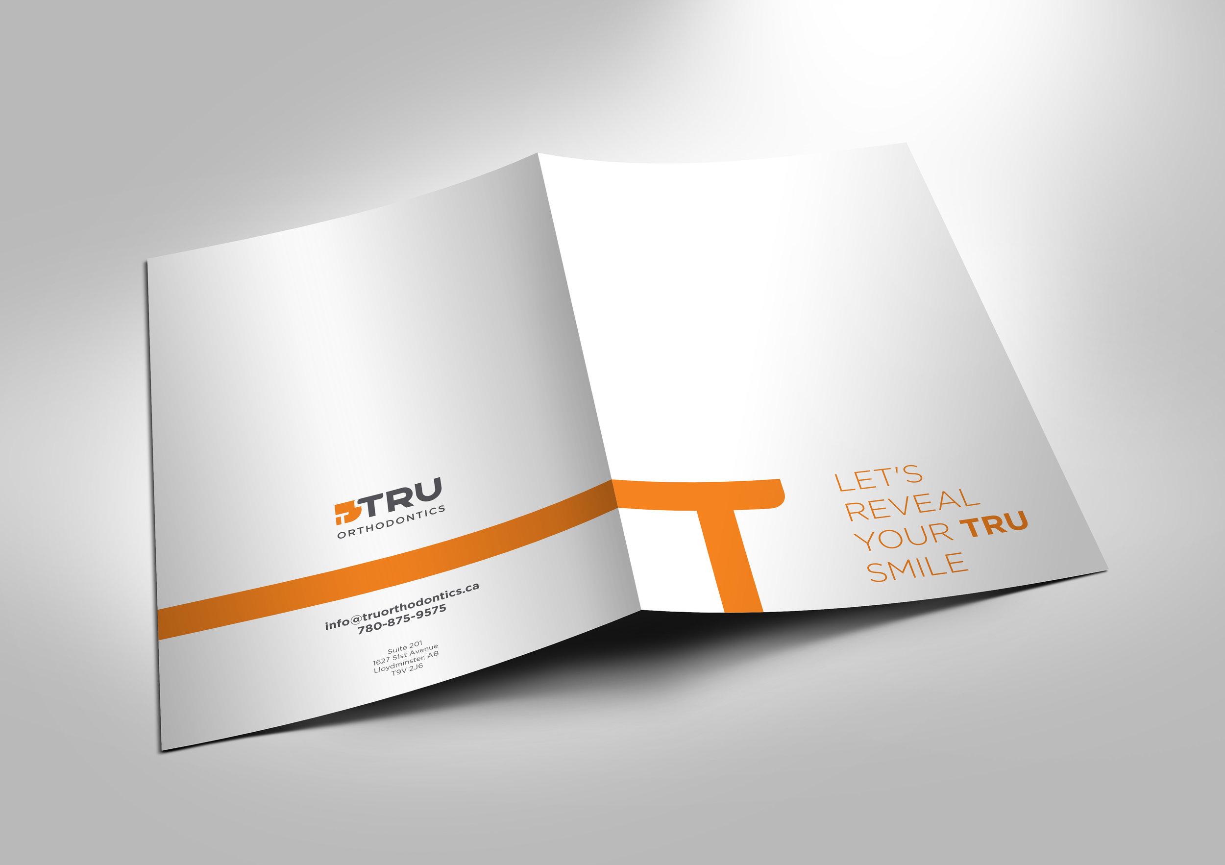 Tru orthodontics business card design back