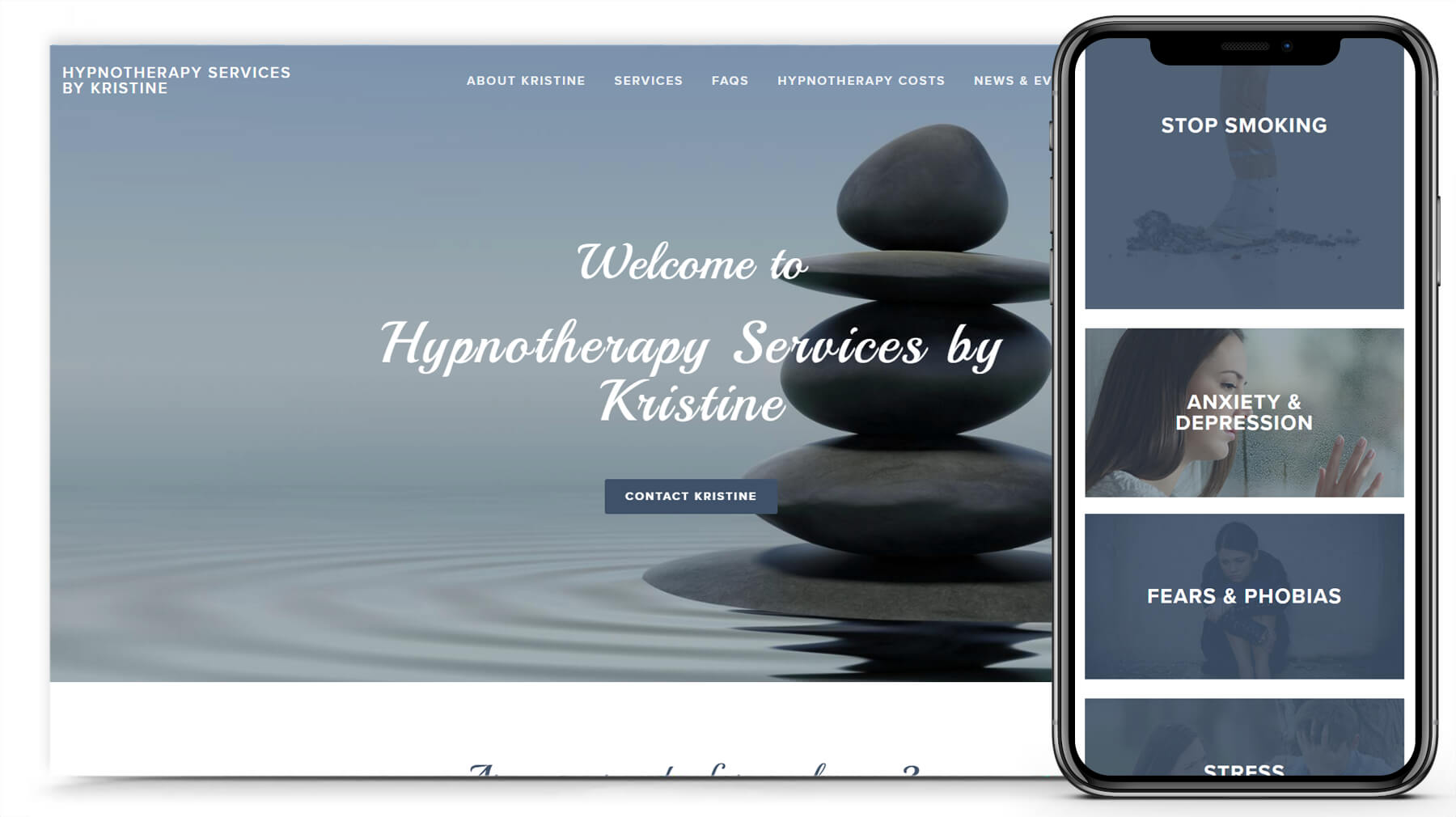 Hypnotherapy by Kristine Website