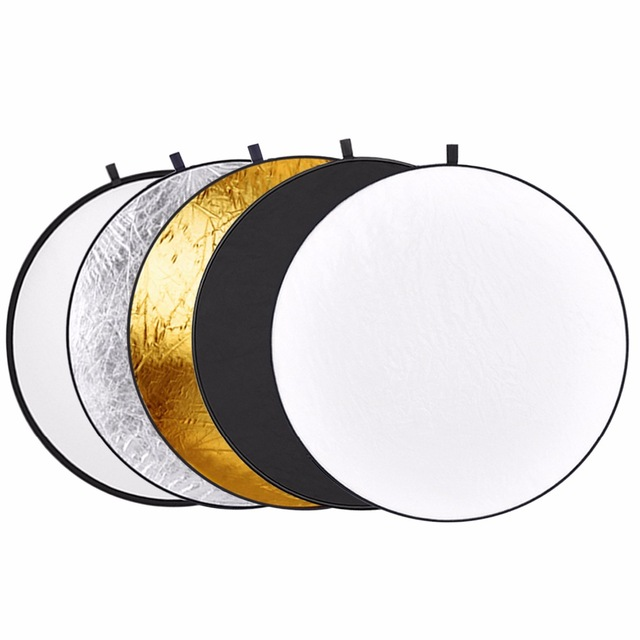 This reflector is absolutely amazing. There are five usable sides. You've got a transparent reflector which I mostly use as a diffuser in bright midday sun. There is a white side for bouncing light, a black side for absorbing light. The silver side bounces light with a cold temperature and the gold side bounces light with a warm glow. I use that side on overcast days so it gives the photos a warm feeling overall. This whole setup also folds down to a little bigger than a frisbee which is amazing when you've got a lot of things to carry.  Purchase it at:  https://amzn.to/2NQO1WB