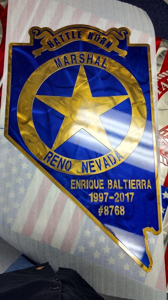 Reno Marshal Retirement Gift