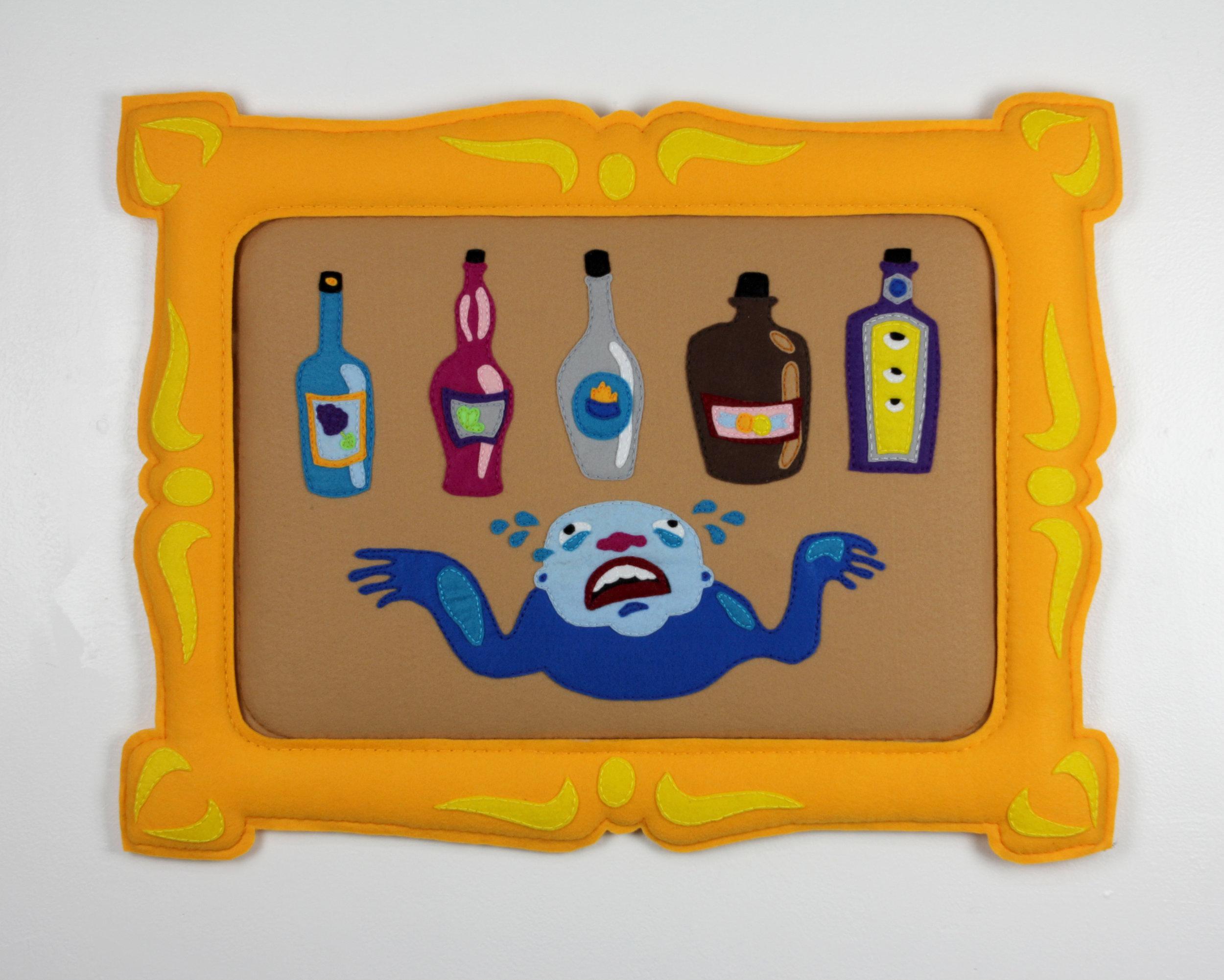 """Bozo Bottle Pop, 31 x 23.5"""", 2018"""