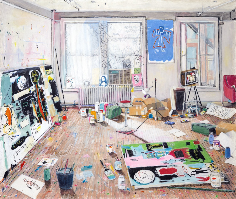 Basquiat's Studio (Crosby St, 1983) 2017