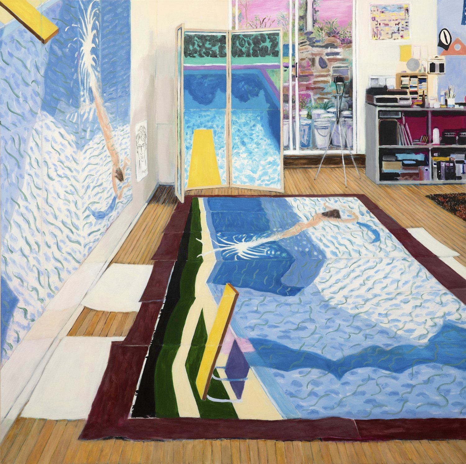 Hockney's Studio (while painting Paper Pools, 1978) 2016