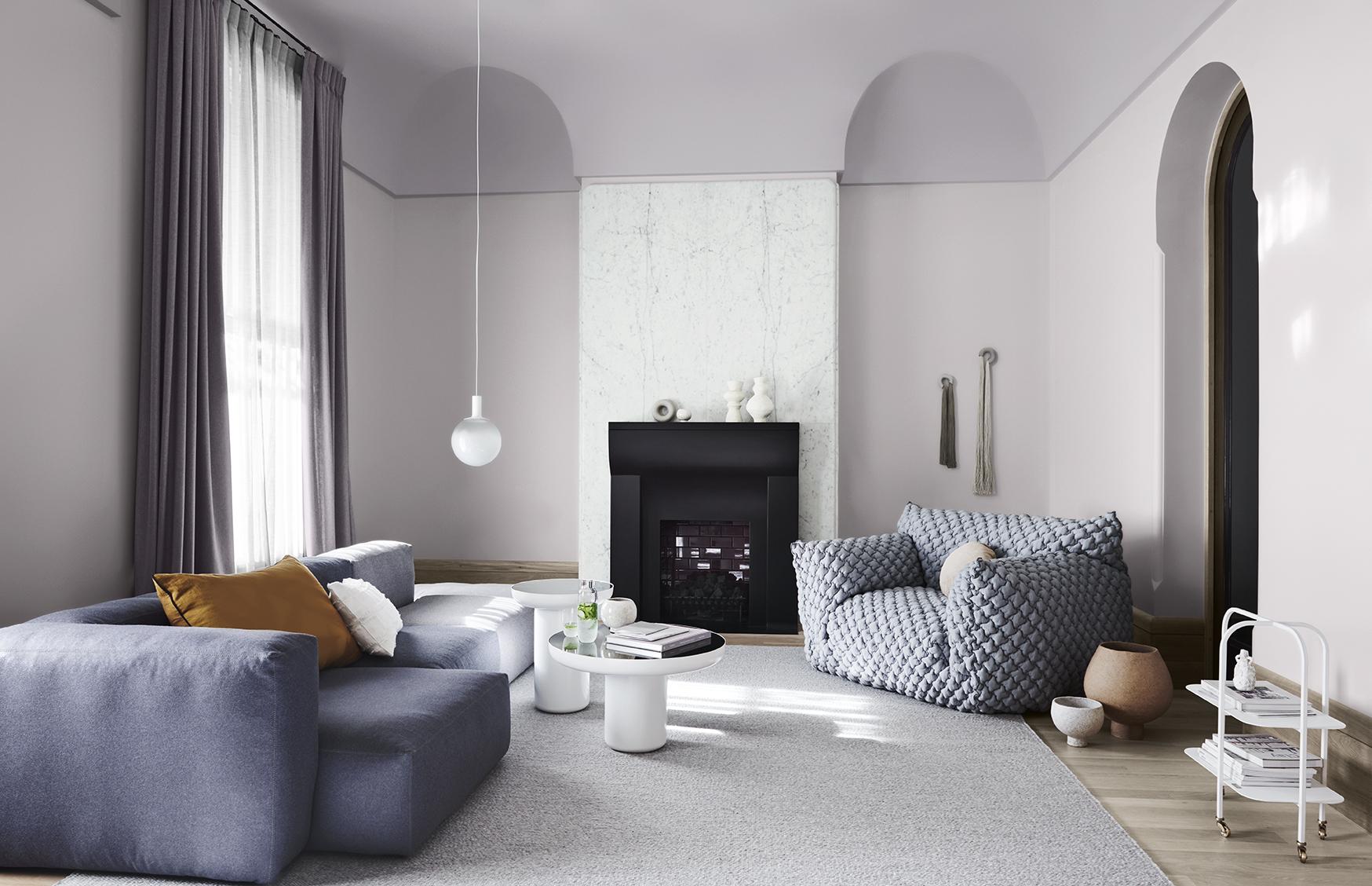 Wholeself Palette Dulux Colour Forecast. Stylist Bree Leech. Photographer Lisa Cohen. Wall colour Dulux Silver Thaw, ceiling in Dulux Milton.