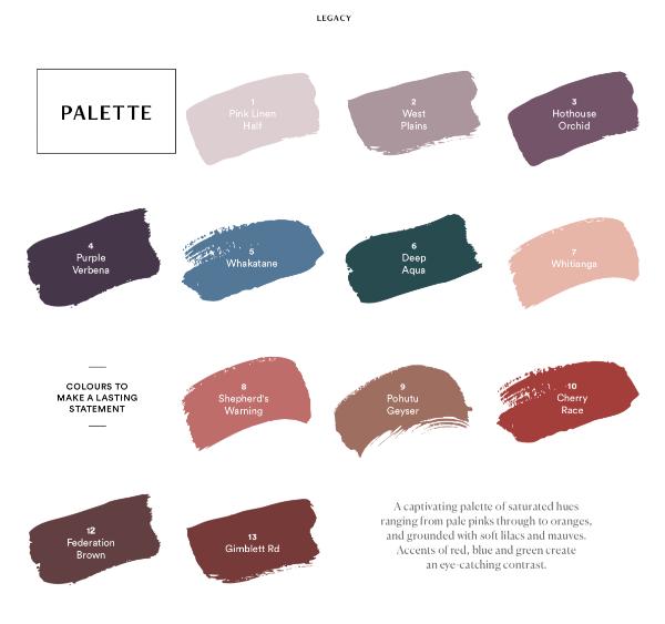 Dulux Legacy Palette 2019