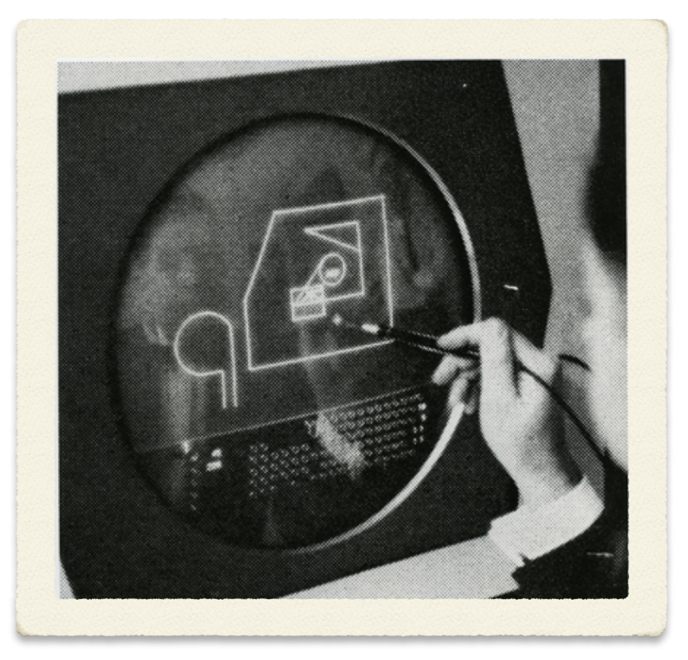 The first CAD program operated with a Light-Pen: Sketchpad from 1962.