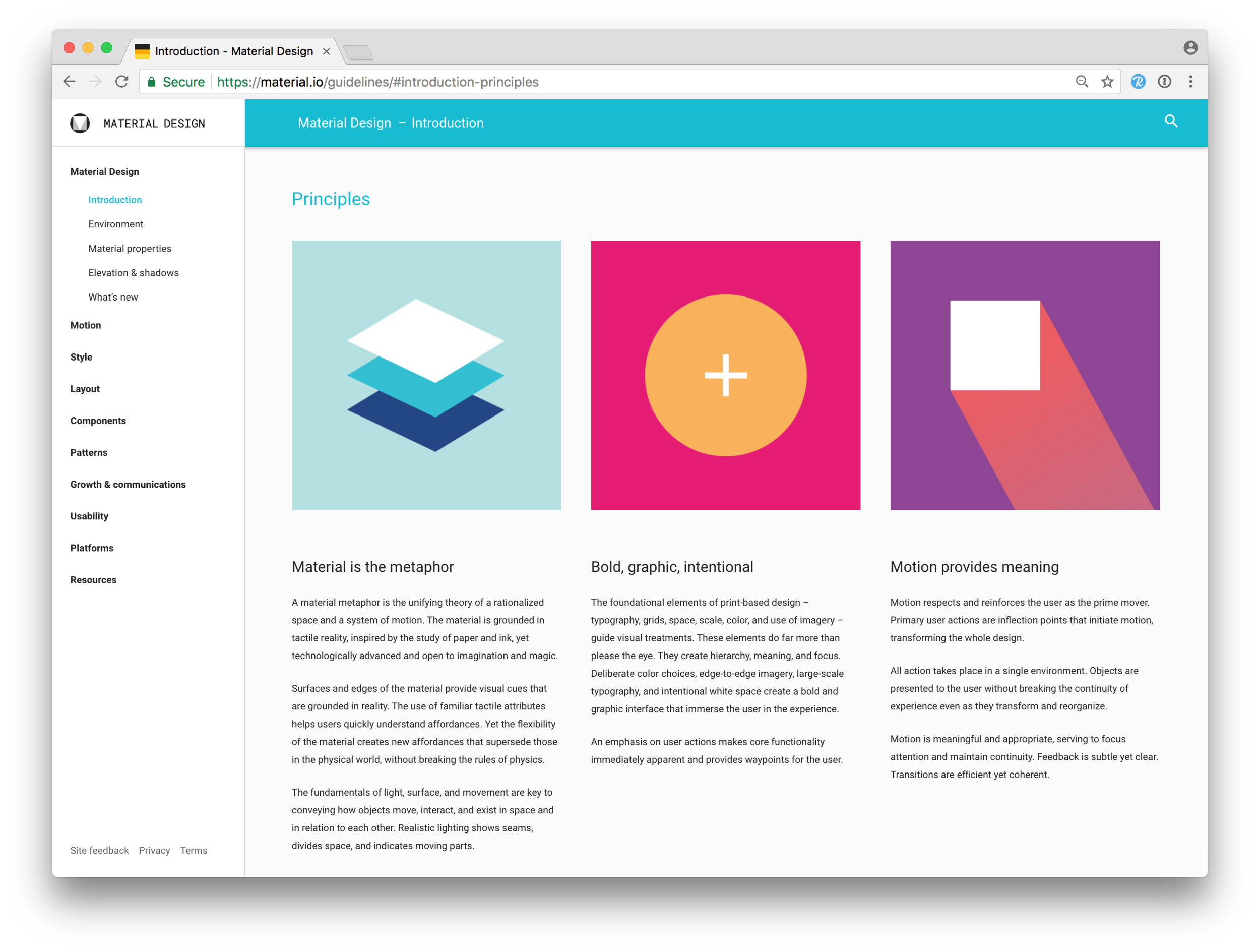 Material Design - A comprehensive Standard for designing user experiences for desktop, tablet and mobile.Learn more...