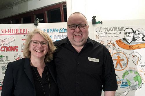 Speaker: Playframe - Vicky Tiegelkamp und Patrick Boltz, Inhaber und Design Consultants