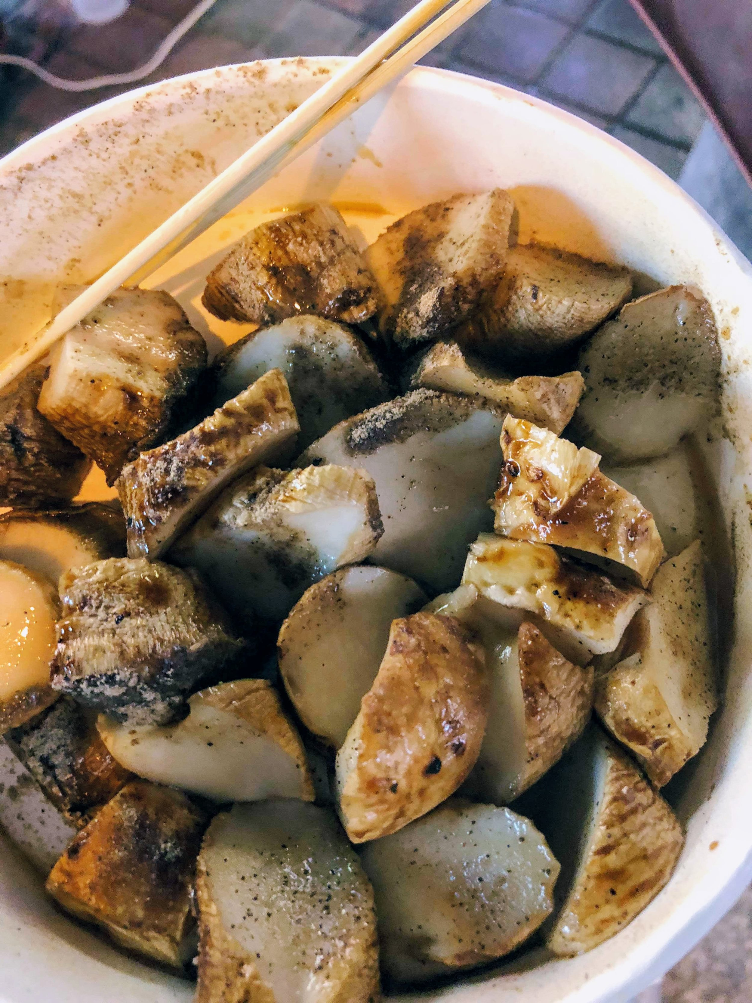 Night market mushrooms.