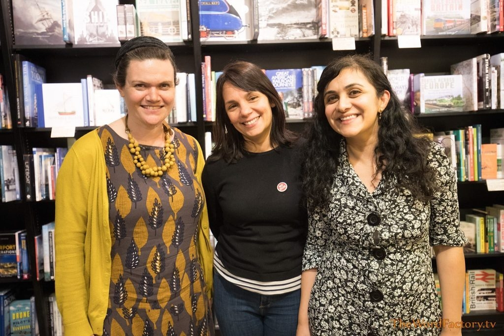Claire Adam, Emily Devane, and Divya Ghelani at Waterstones Piccadilly - Writers in Residence 2016
