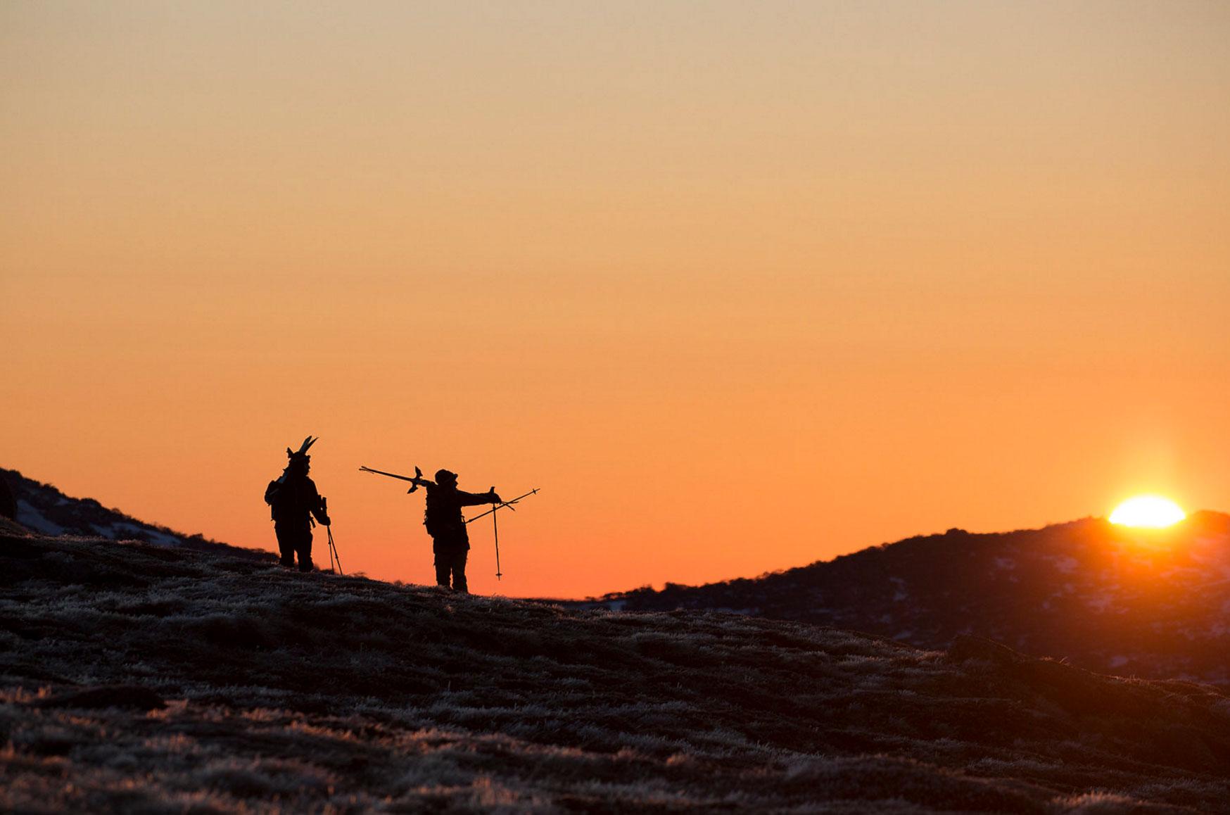 Nat and Anna Segal exploring the Australian backcountry, Photo: Teddy Laycock