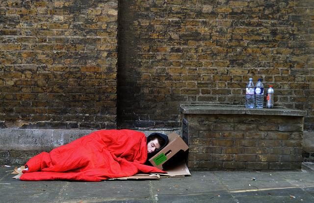 Homeless man, London, 2016. Copyright  Neil Hester