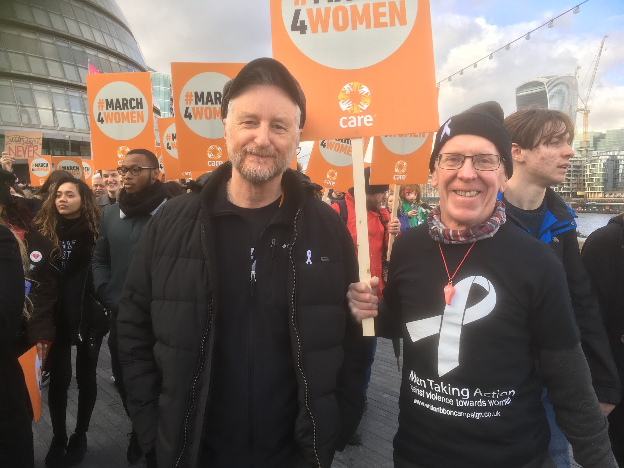 Billy Bragg and Chris Green at March for Women 2017