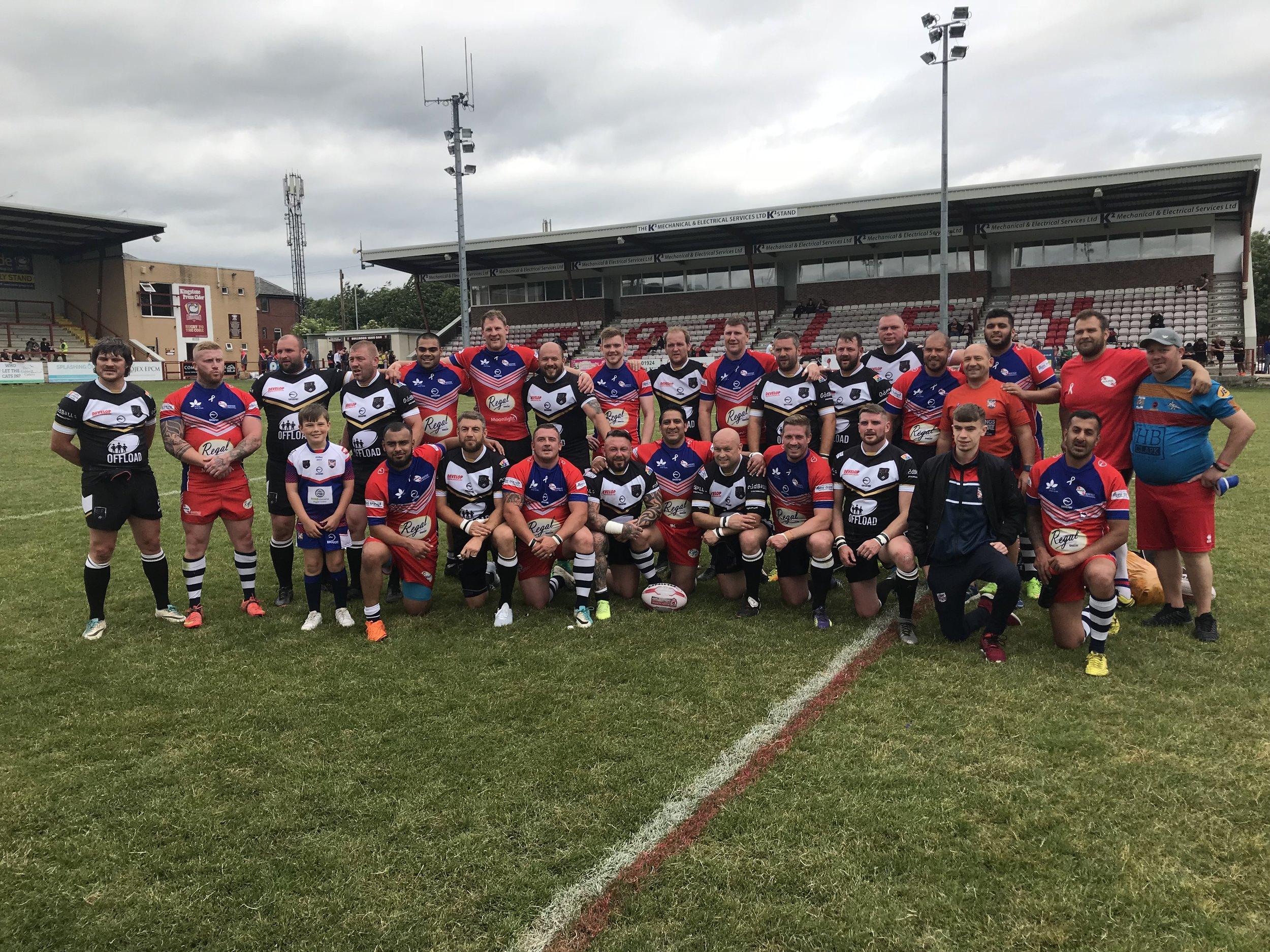 Both teams at the Jo Cox Memorial Game