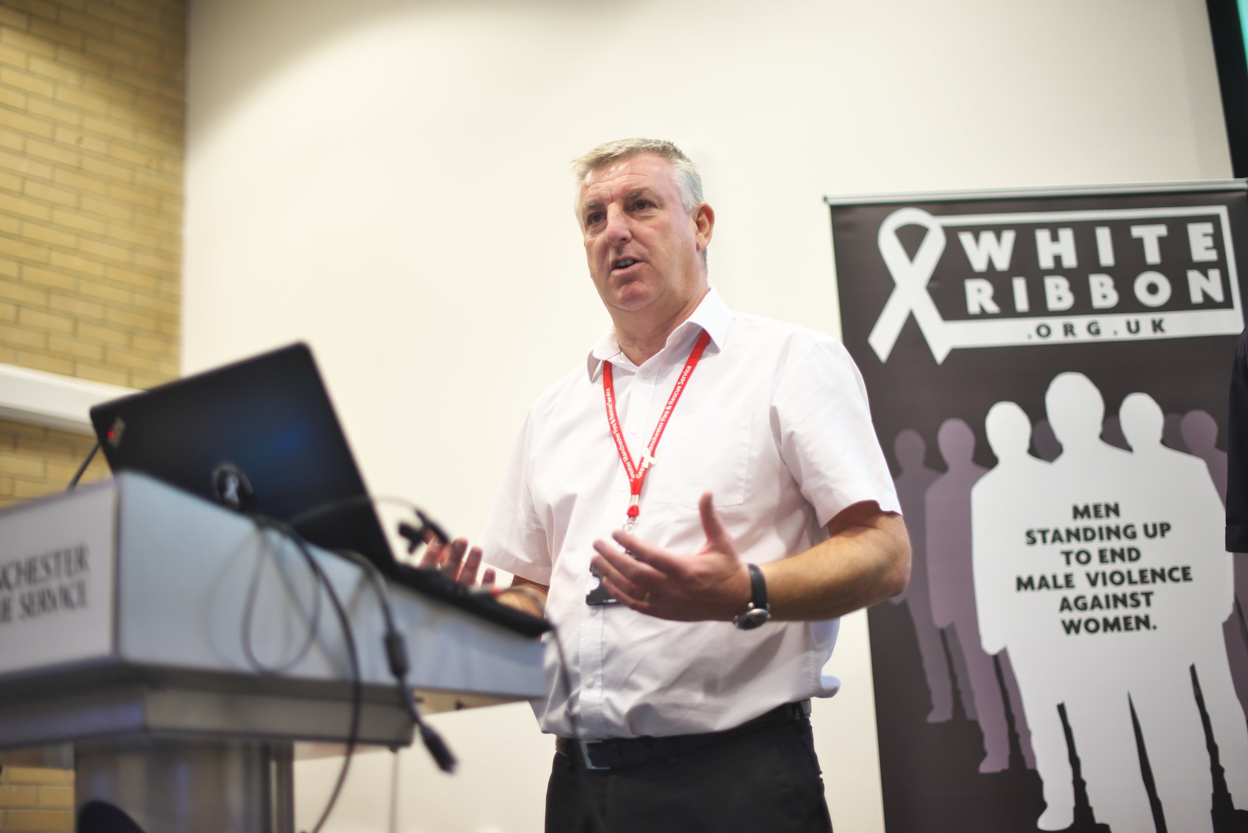 Andy Pownall speaking at the event on what it means to be an Ambassador for the campaign