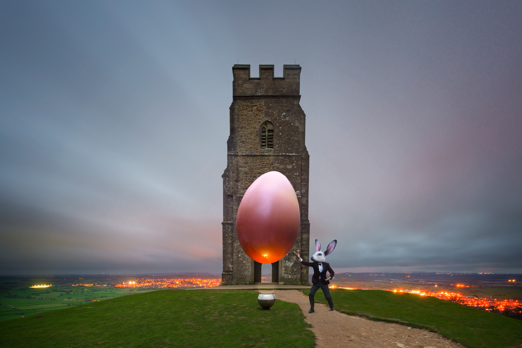 Over three days we did our own Easter egg hunt to various mystical sites in the West of England and Wales including Glastonbury Tor.