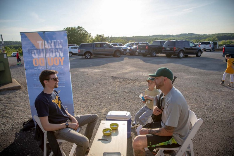 In Rostraver, we wanted to meet people who might not otherwise show up at a media event or town hall. Photo: David Smith/Reed College of Media @ WVU