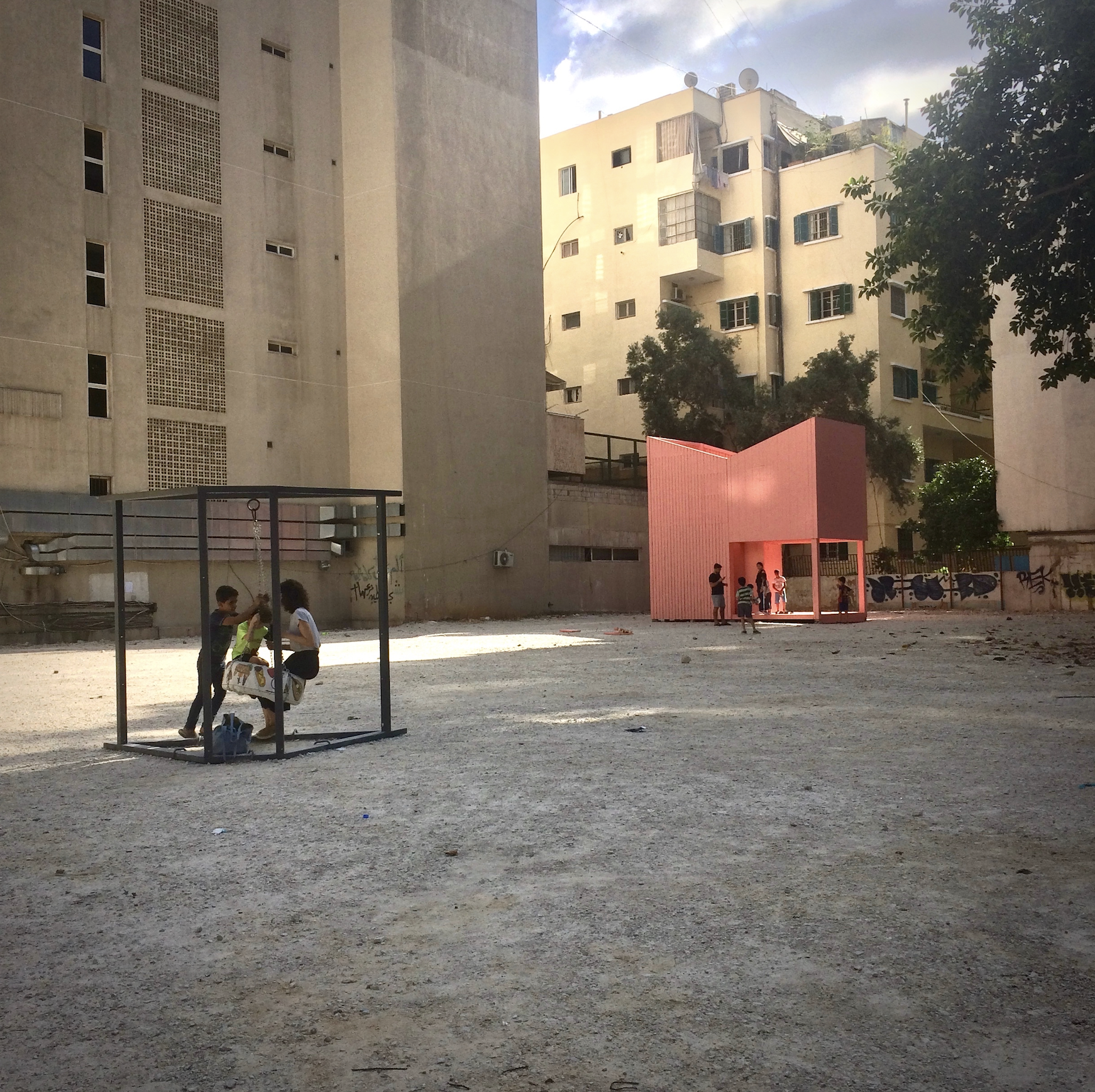 The Silent Room  on an empty lot in Ras Beirut during Beirut Design Week, June 2018 (C) Hanna Baumann