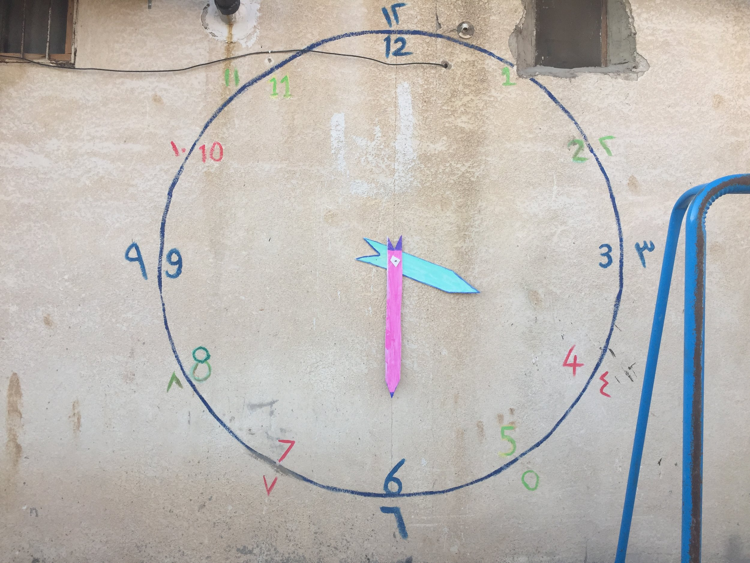 Clock on the wall of a MAPs school