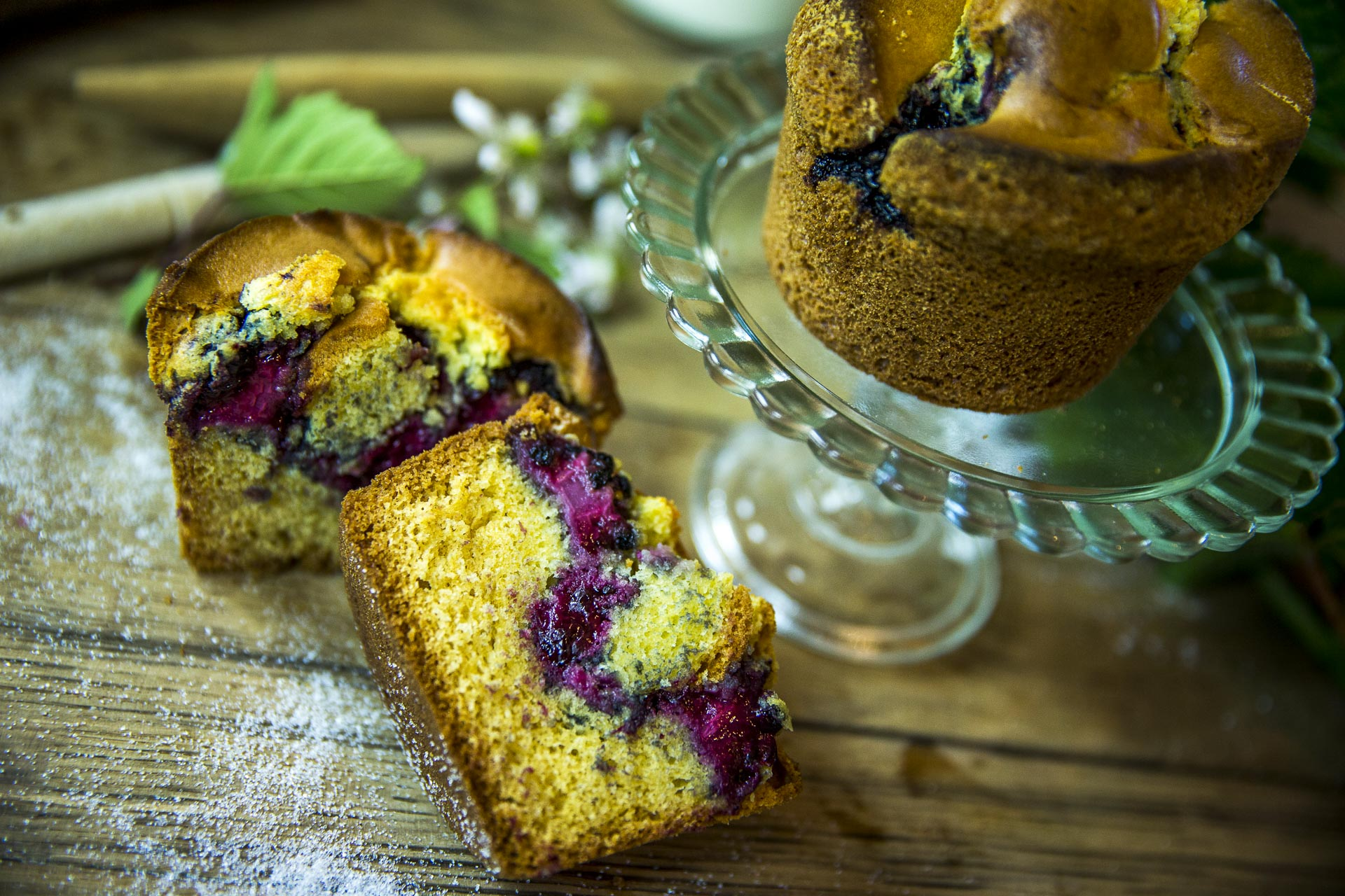 Les recettes - Muffins à la mure