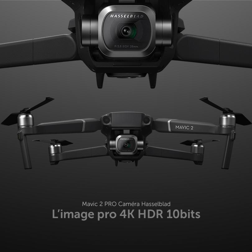 Cette configuration Drone + Télépilote permet d'évoluer en extérieur comme en intérieur produisant des images de très haute qualité. - Drone + télépilote X1