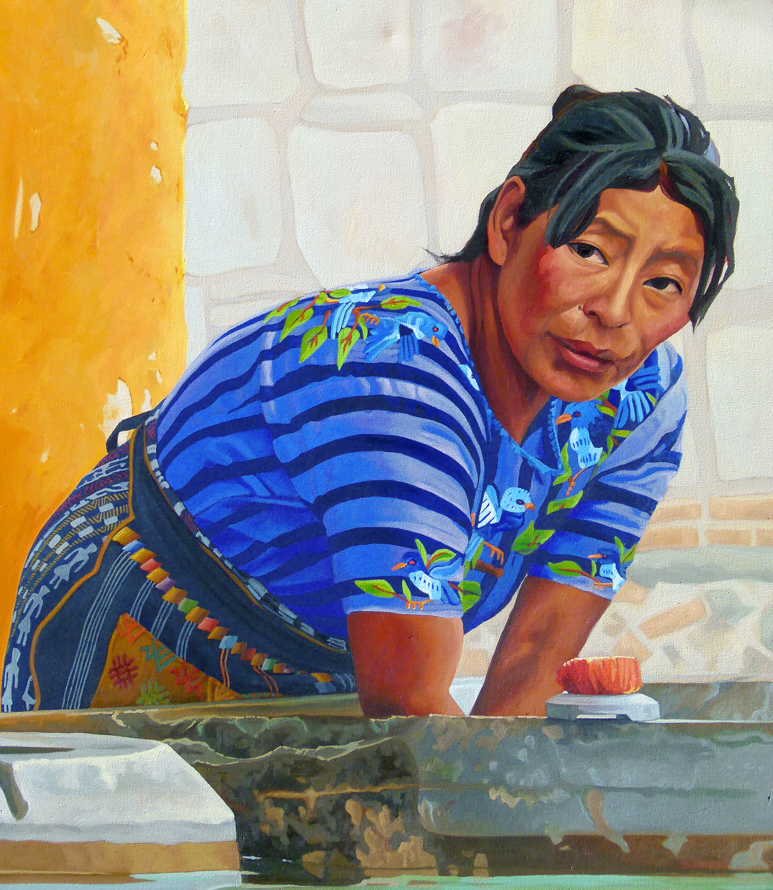 A Woman From Antigua, 32 x 48 in, oil on canvas, 2012