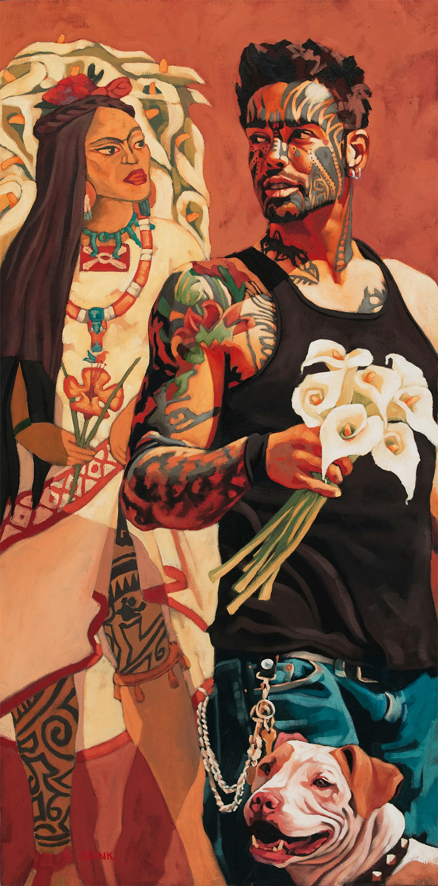 Para Tu Diego, 40 x 20 in, oil on canvas, 2004