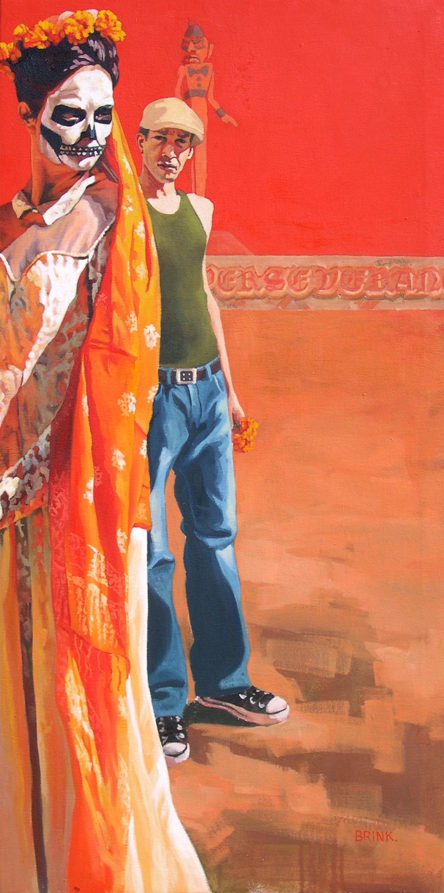 Battlefield, 40 x 20 in, oil on canvas, 2003