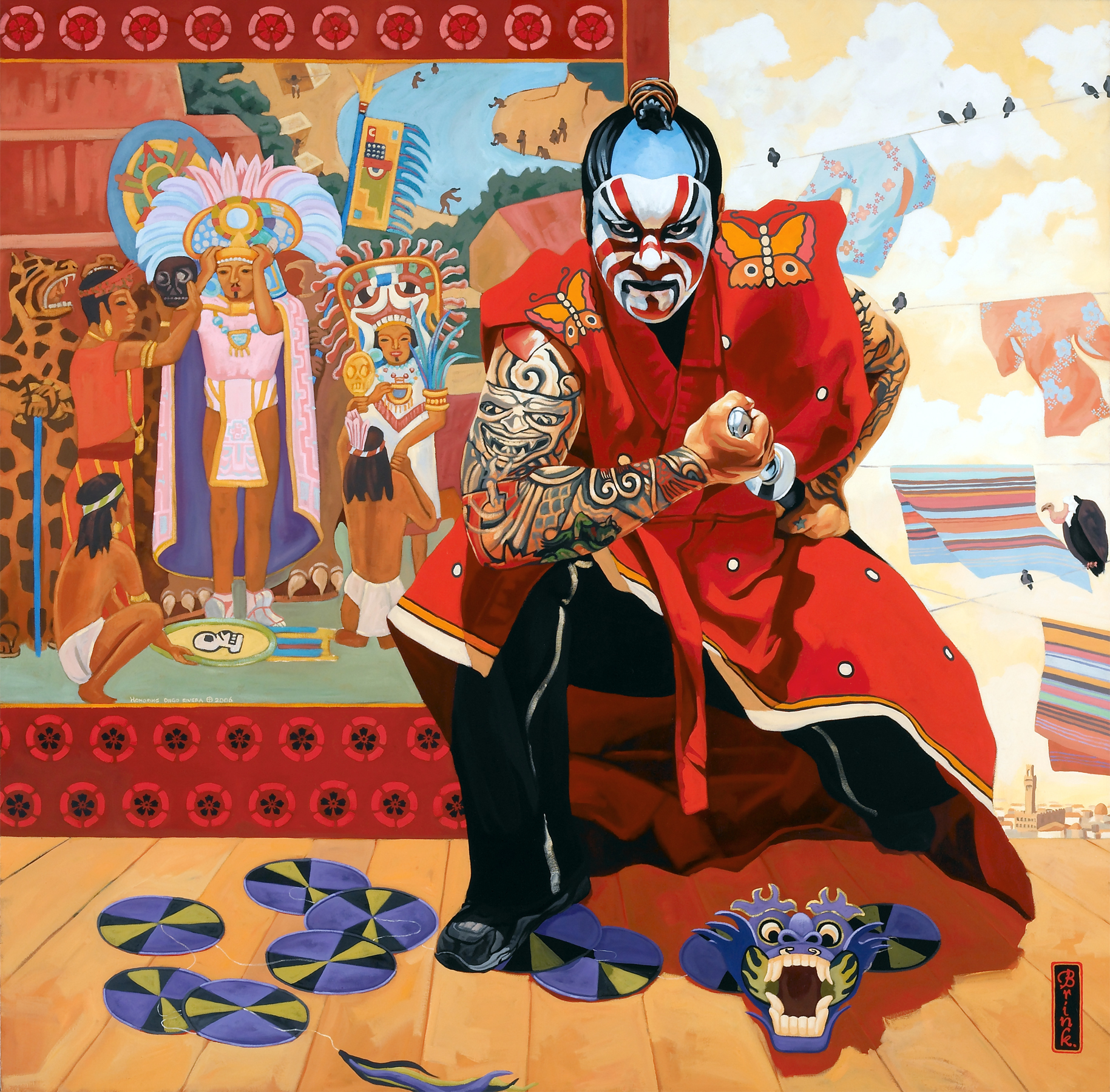 Don Miguel, 50 x 50 in, oil on canvas, 2006