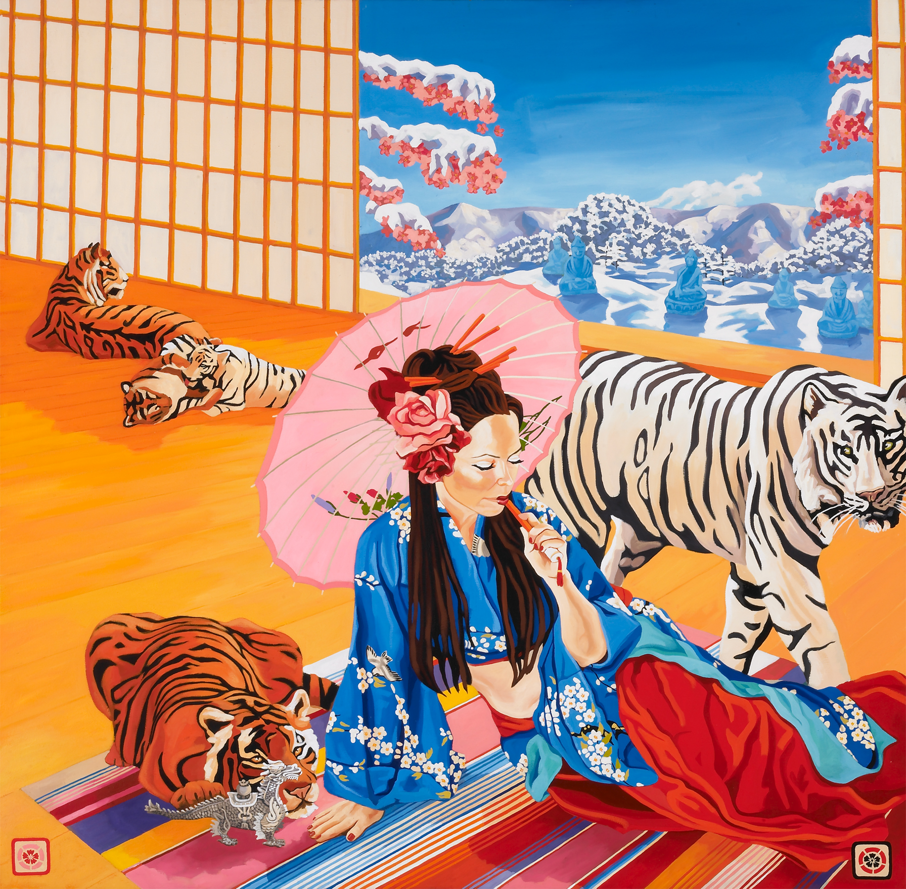 Tigers Milk, 50 x 50 in, oil on canvas, 2006