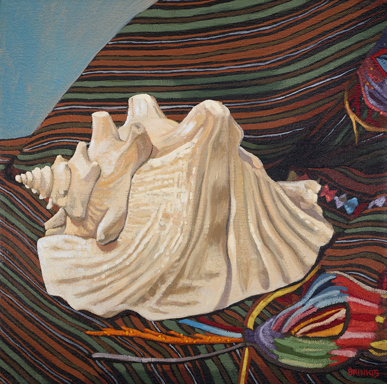 Queen Conch 1, 12 x 12 in, oil on canvas, 2015