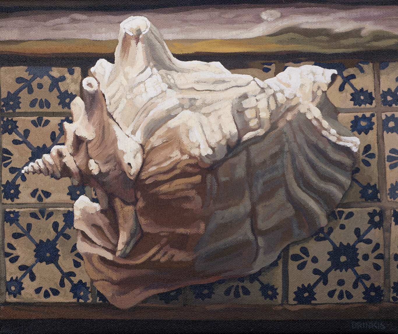 Conch On The Sill, 10 x 12 in, oil on canvas, 2016