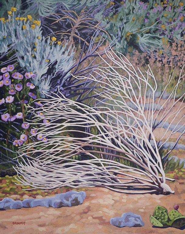 Arroyo Still Life 2, 20 x 16 in, oil on canvas, 2017