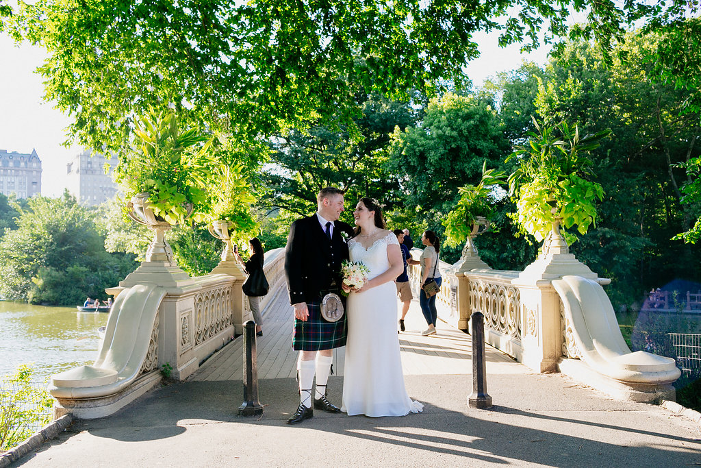 Mid July on Bow Bridge. Photo by Elope Studios /  Chellise Michael Photography.