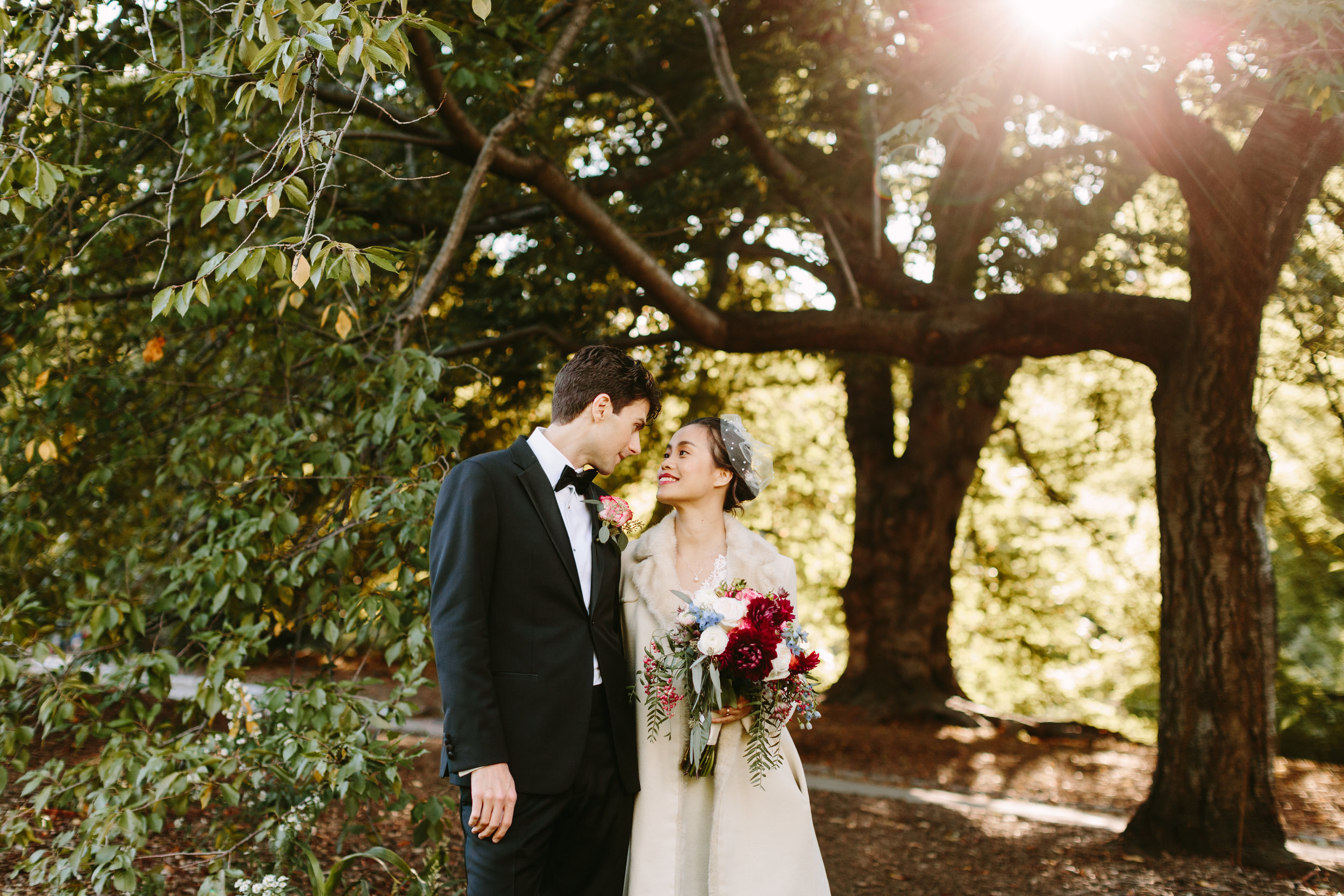Just the two of you and some loving trees. Photo by  Karen Obrist Photography.