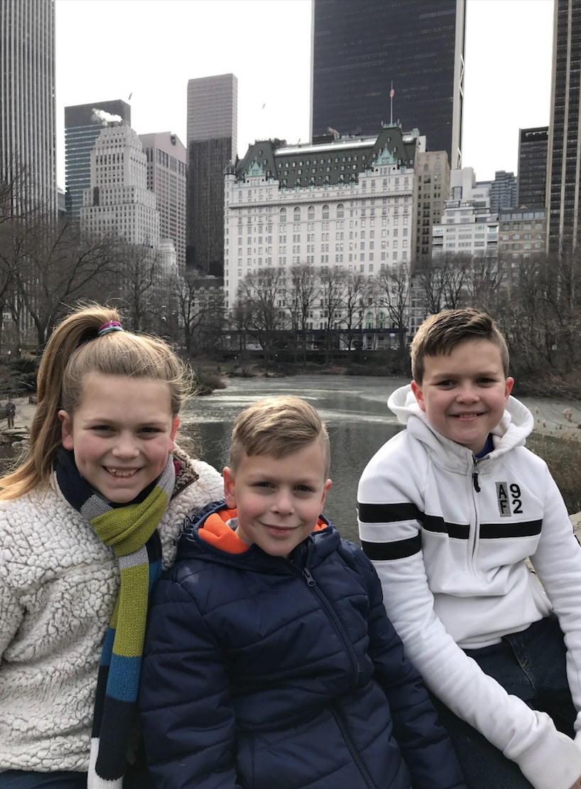 Wayne & Phil's kids enjoying Central Park and getting to see where their dads got married.