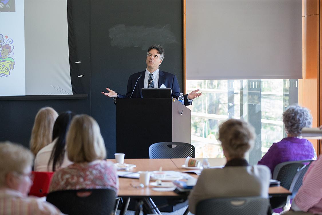 Matthew Kaplan speaking at a PRYDE In-Service event