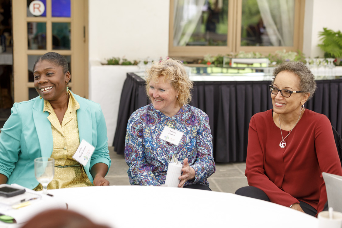 Jamila Walida Simon, Barbara Stevens, and Jackie Davis-Manigaulte at the 2017 Youth Development Research Update