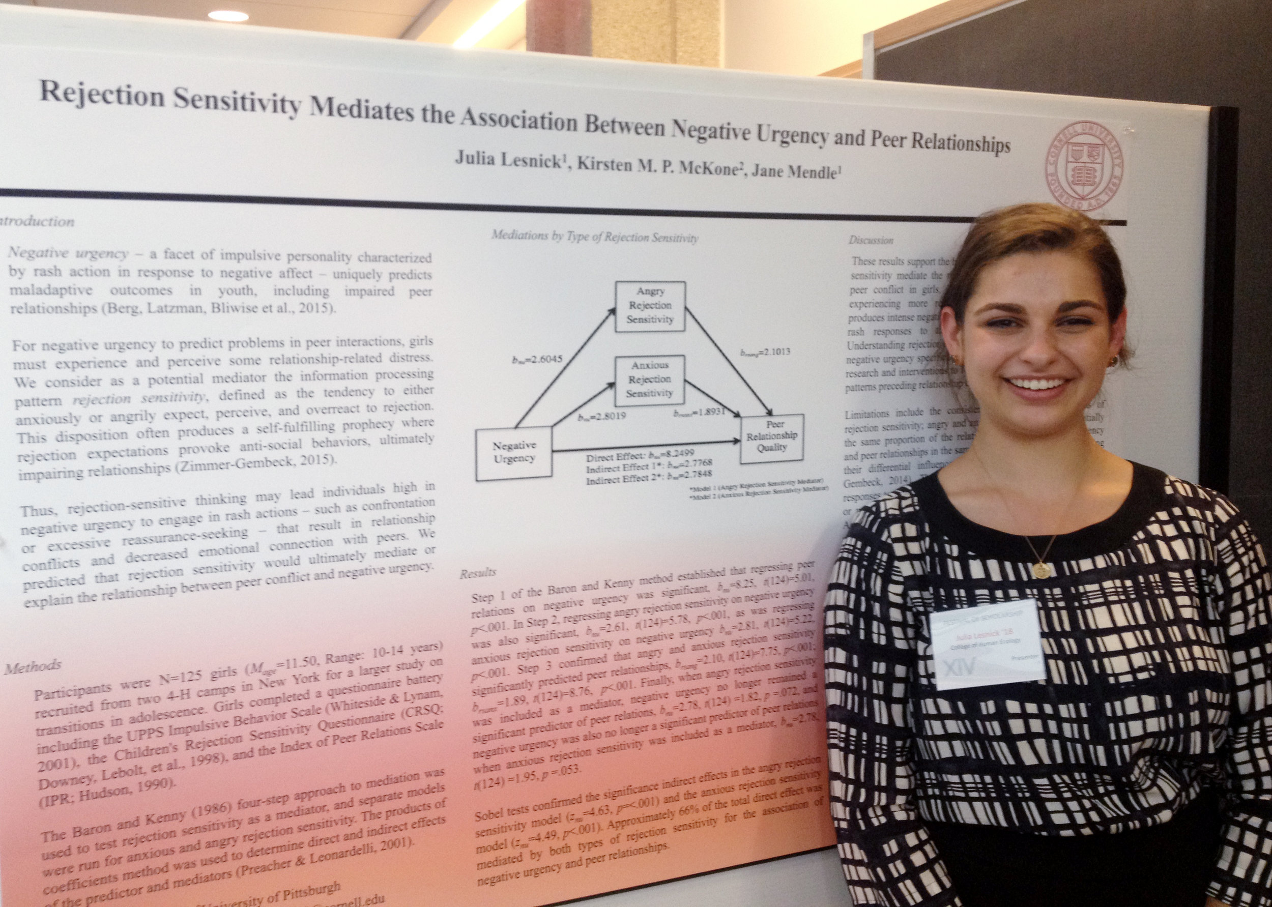 Julia Lesnick with her poster