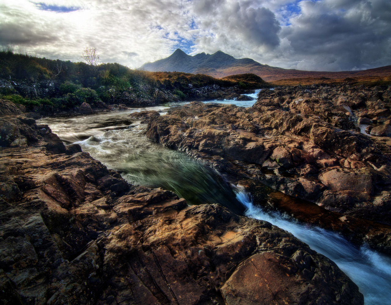 """Britain's Patagonia"" by Ian Cylkowski. A view towards the Black Cuillins from the  Allt Dearg Mór . Photographed in 2014."