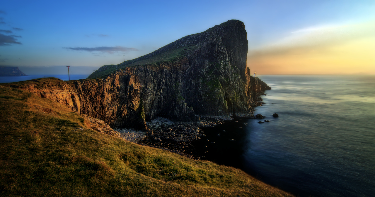 """Lighthouse At The End Of The World"" by Ian Cylkowski. Neist Point Lighthouse shot from the cliffs of Waterstein. 2014."
