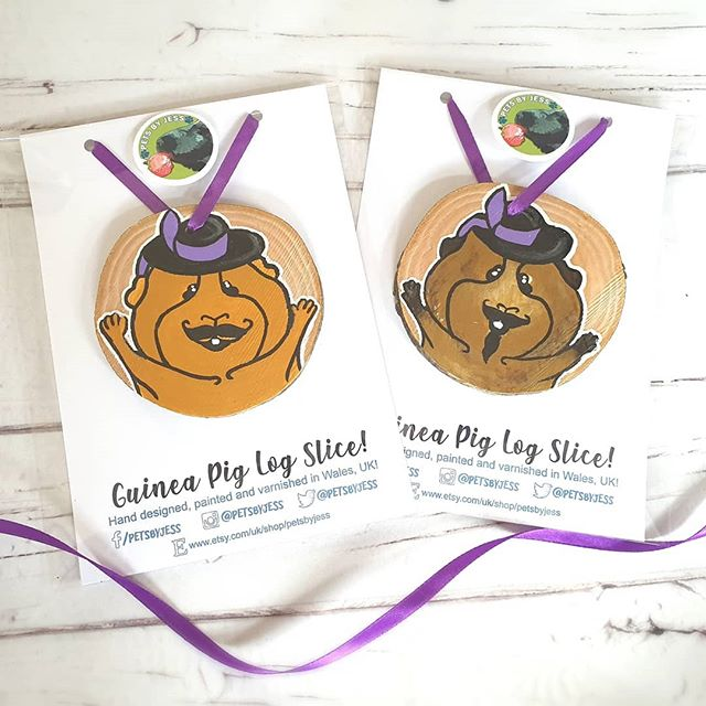 Trying out new packaging for the custom log slices! I love the purple to match @pigateers_rescue 💜 These log slices are being sent with other goodies for their open day in September. Just awaiting an order of stickers to come in! 🌿🐾